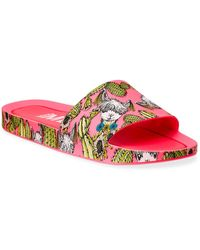 Melissa Llama & Cactus Print Beach Slide Sandals - Multicolor