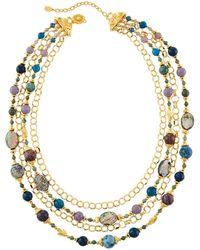 Jose & Maria Barrera - Multi-strand Bead & Chain Draped Necklace - Lyst