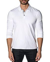 Jared Lang - Long-sleeve Knit Polo Shirt - Lyst