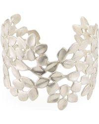 Alex Woo Vida Leaf Cuff Bracelet - Metallic
