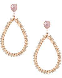 Nakamol Open Teardrop Earrings Pink