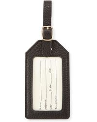 Neiman Marcus - Pebbled Faux-leather Luggage Tag - Lyst