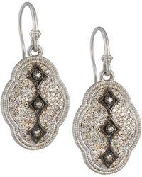 Armenta New World Scalloped Diamond Pave Drop Earrings - Multicolour