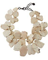 Nest Chunky White Howlite Bib Necklace