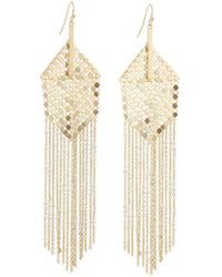 Panacea - Mesh & Chain Fringe Earrings - Lyst