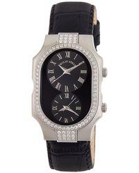 Philip Stein - Small Signature Double Diamond Watch Black - Lyst