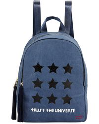Peace Love World - Graphic Tassel-zip Canvas Backpack - Lyst