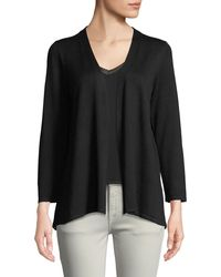Neiman Marcus - Pleated-back Open-front Cardigan - Lyst