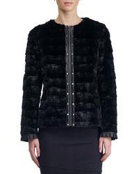 Gorski   Leather-trim Fur Jacket   Lyst