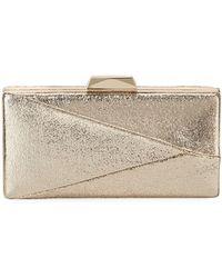 Sondra Roberts - Crinkle Foil Metallic Evening Box Clutch Bag - Lyst
