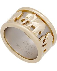 Cartier - Estate 18k Two-tone Elephant Ring - Lyst