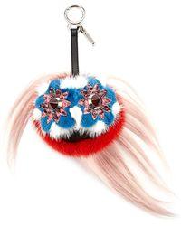 Fendi - Blossy Bag Bugs Charm For Handbag Strawberry Red/blue - Lyst