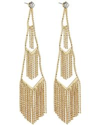 Lydell NYC - Tiered Fringe Drop Earrings - Lyst
