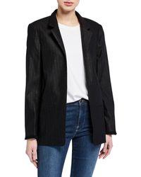 Zadig & Voltaire Volly Stripes Open Fringe Jacket - Black