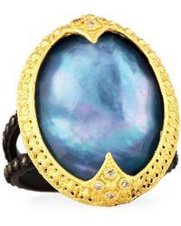Armenta - Old World Triplet Ring W/ Mixed Diamonds - Lyst
