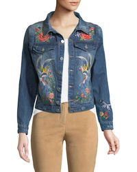 Haute Rogue - Embroidered Denim Jacket - Lyst
