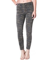 Nicole Miller High-rise Camo-print Skinny Jeans - Gray