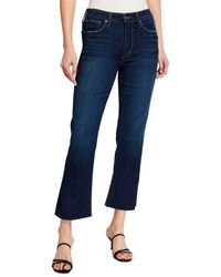 Joe's Jeans High-rise Cropped Boot-cut Jeans - Blue