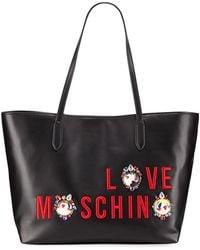 Love Moschino - Smooth Napa Faux Logo Tote Bag - Lyst
