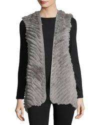 Love Token - High-low Fur Vest - Lyst