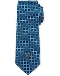 Versace - Men's Birdseye Silk Tie With Medusa - Lyst