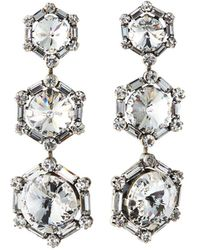 DANNIJO 3-drop Crystal Earrings - Metallic
