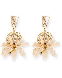 Lulu Frost - Bora Flower Statement Earrings - Lyst
