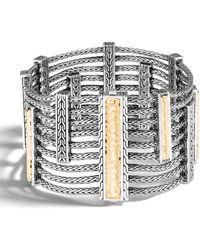 John Hardy - Classic Chain Hammered Heritage Multi-row Bracelet Size M - Lyst