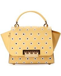 Zac Zac Posen - Eartha Embroidered Polka Dot Leather Bag - Lyst