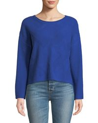 Quinn - Textured Flare-sleeve Crop Sweater - Lyst