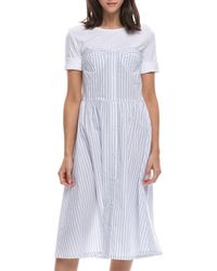 English Factory - Tee/striped Dress Twofer - Lyst