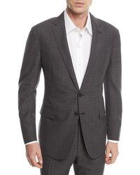 Ralph Lauren Two-piece Glen Plaid Wool Suit - Gray