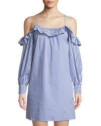 Maggy London - Cold-shoulder Ruffle Swing Dress - Lyst