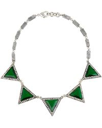 Lulu Frost Future 5-stone Necklace - Green
