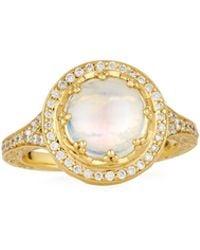Penny Preville | 18k Moonstone Crown Ring | Lyst