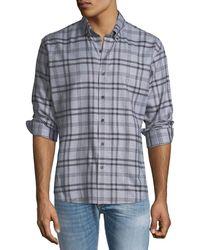 Neiman Marcus - Men's Slim Fit Regular Finish Wear It Out Jasper Check Shirt - Lyst