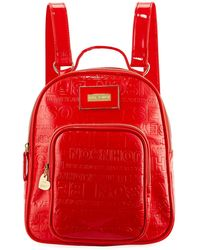 Betsey Johnson - Logo-embossed Faux-leather Backpack - Lyst