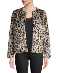 Love Token - Faux-fur Leopard Jacket - Lyst