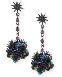 Lulu Frost - Rose Crystal Statement Earrings - Lyst