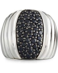 John Hardy - Bedeg Lava Dome Black Sapphire Ring - Lyst