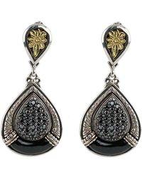 Konstantino - Asteri Pave Black Diamond & Onyx Double-drop Earrings - Lyst