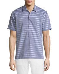 Neiman Marcus - Slim-fit Wear-it-out Dobby Chambray Polo Shirt - Lyst
