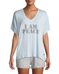 Peace Love World - Mia V Peace Comfy Slogan Tee - Lyst