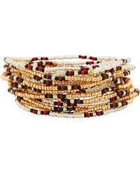 Neiman Marcus - On The Bead Beaded Bracelet Golden - Lyst