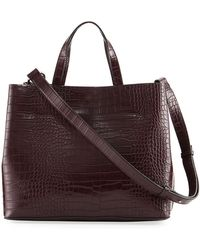 French Connection - Alana Crocodile-embossed Tote Bag - Lyst