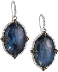 Armenta - New World Pointed Doublet Oval-drop Earrings W/ Diamonds - Lyst