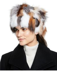 Adrienne Landau - Fox Fur Multicolor Hat - Lyst 36eef13297e