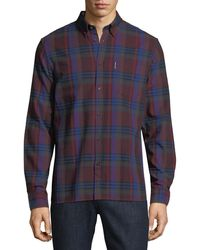 Ben Sherman - Button-front Brushed Crepe Check Shirt - Lyst