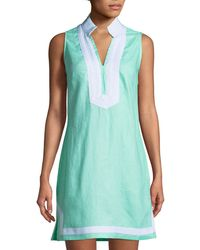Sail To Sable - Sleeveless High-neck Tunic Dress - Lyst