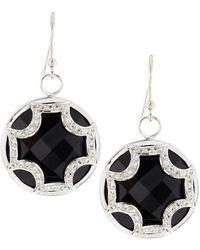 Elizabeth Showers - Black Onyx Sapphire Maltese Cross Dangle & Drop Earrings - Lyst